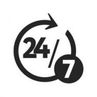 Logo 24h 7days